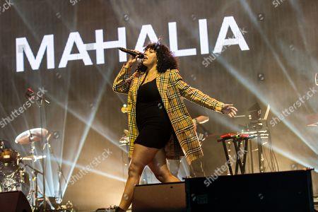 Stock Picture of Mahalia Burkmar performing on the John Peel Stage