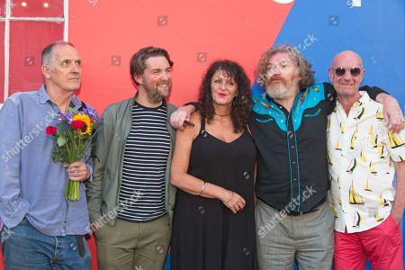 Stock Photo of Bill Drummond, Finlay Pretsell, Tracey Moberley, Paul Duane, Cal Dean Burn