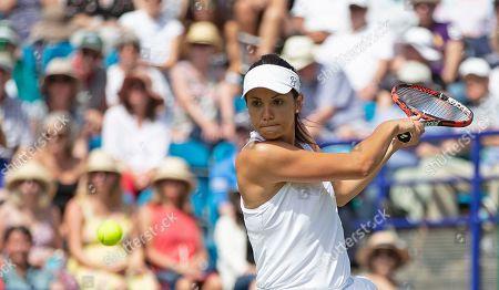 Raluca Olaru (ROU) during her doubles semi final defeat partnering Simona Halep (ROU)