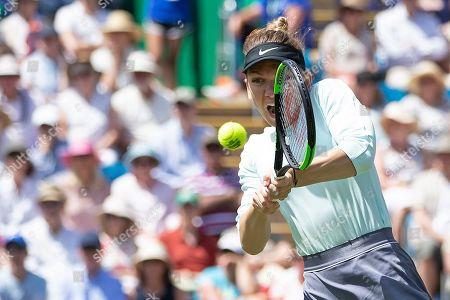 Simona Halep (ROU) during her doubles semi final defeat partnering Raluca Olaru (ROU)