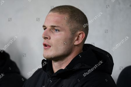 English man George Burgess of the Rabbitohs watches from the bench the Round 15  National Rugby League (NRL) match between the Wests Tigers and the South Sydney Rabbitohs at Bankwest Stadium in Sydney, Australia, 27 June 2019, issued 28 June 2019. Media reports state that Burgess has been reported for allegedly eye gouging his opponent West Tigers Robbie Farah.