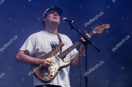 Stock Photo of Mac Demarco performing on the Pyramid Stage