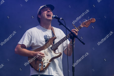Mac Demarco performing on the Pyramid Stage