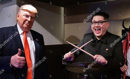 Editorial picture of Kim Jong Un and Trump Impersonators, Osaka, Japan - 27 Jun 2019