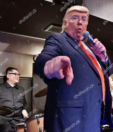 Editorial photo of Kim Jong Un and Trump Impersonators, Osaka, Japan - 27 Jun 2019