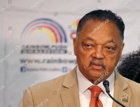 Rev. Jesse Jackson addresses reporters at the start of the Rainbow PUSH Coalition Annual International Convention, in Chicago. Former vice president Joe Biden will be the first presidential candidate to addresses the five-day convention