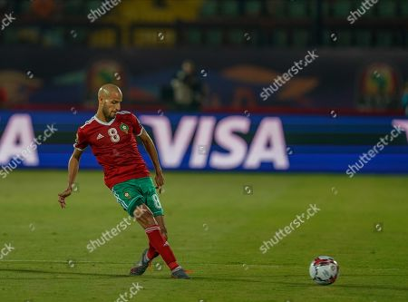 Karim El Ahmadi Aroussi of Morocco during the African Cup of Nations match between Morocco and Ivory Coast at the Côte d'Ivoire in Cairo, Egypt