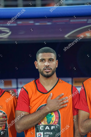 Stock Image of Youssef Ait Bennasser of Morocco during the African Cup of Nations match between Morocco and Ivory Coast at the Côte d'Ivoire in Cairo, Egypt