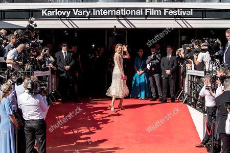 Czech supermodel Hana Soukupova arrives on the red carpet for the opening ceremony of the 54th Karlovy Vary International Film Festival, in Karlovy Vary, Czech Republic, 28 June 2019. The festival runs from 28 June to 06 July.
