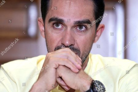 Former Spanish cyclist Alberto Contador offers a press conference in Mexico City, Mexico, 28 June 2019. Contador considered that this year's Tour de France will be 'open', without a clear favorite but with an Ineos team that 'can mark the race'. This was stated at a press conference in the Mexican capital, which came to promote the Stage of the Tour de France, a recreational race with about two thousand participants.