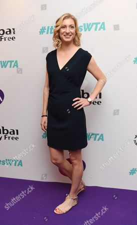 US tennis player Julia Boserup arrives at the Dubai Duty Free WTA Summer Party 2019 held at the Jumeirah Carlton Tower in London, Britain, 28 June 2019.