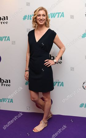 Stock Picture of US tennis player Julia Boserup arrives at the Dubai Duty Free WTA Summer Party 2019 held at the Jumeirah Carlton Tower in London, Britain, 28 June 2019.