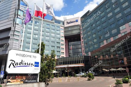 Radison Blu hotel in Szczecin, Poland, 21 May 2015 (Issued 28 June 2019), where lawmakers of the German right-wing party AfD were due to hold a retreat meeting. The hotel canceled the citing 'power outage'.