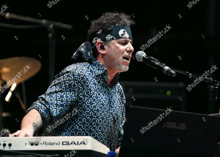 Argentinian music and singer Andres Calamaro performs on stage during a concert, in Madrid, Spain, 28 June 2019.