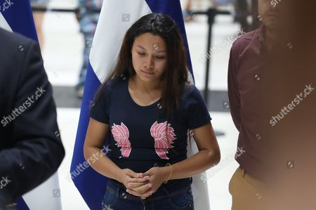 Tania Avalos, mother of the Salvadorian girl Valeria that died with her father Oscar Martinez at the Rio Grande river trying to arrive to USA, arrives from Mexico to the Oscar Romero International Airport in San Luis Talpa, El Salvador, on 28 June 2019.