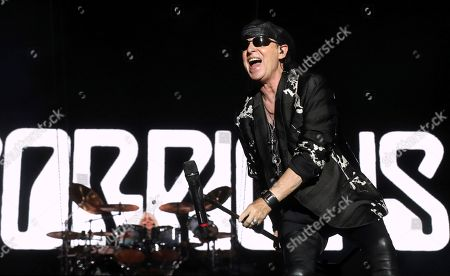 The singer of the German group Scorpions Klaus Meine performs during the Download Festival 2019, at Caja Magica in Madrid, Spain, 28 June 2019.