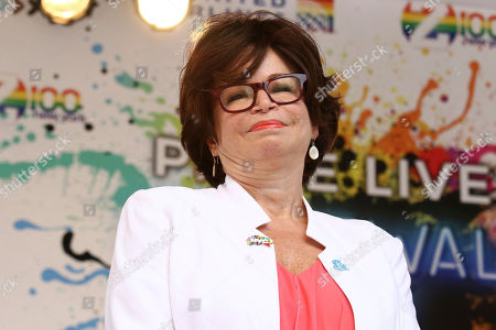 Valerie Jarrett participates in the second annual Stonewall Day honoring the 50th anniversary of the Stonewall riots, hosted by Pride Live and iHeartMedia, in Greenwich Village, in New York