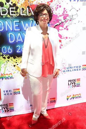 Stock Photo of Valerie Jarrett attends the second annual Stonewall Day honoring the 50th anniversary of the Stonewall riots, hosted by Pride Live and iHeartMedia, in Greenwich Village, in New York
