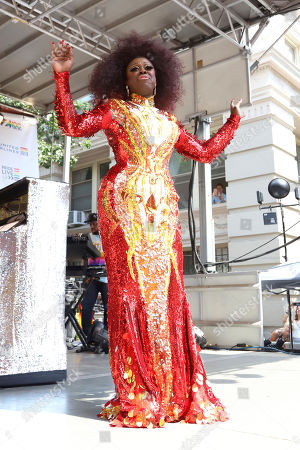 Stock Picture of Bob the Drag Queen participates in the second annual Stonewall Day honoring the 50th anniversary of the Stonewall riots, hosted by Pride Live and iHeartMedia, in Greenwich Village, in New York