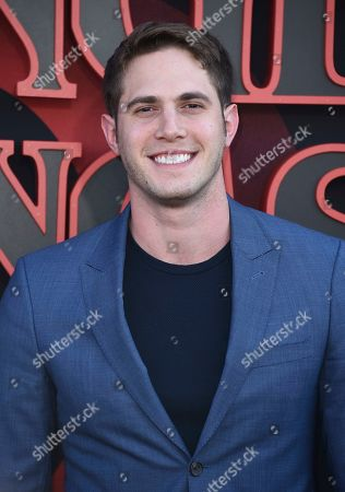 """Stock Picture of Blake Jenner arrives at the season three premiere of """"Stranger Things"""" at Santa Monica High School, in Santa Monica, Calif"""