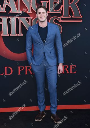"Stock Image of Blake Jenner arrives at the season three premiere of ""Stranger Things"" at Santa Monica High School, in Santa Monica, Calif"