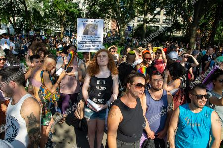 Stock Picture of Friends and members of The Audre Lorde Project at Washington Square Park.