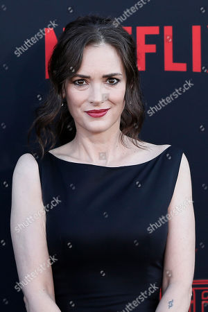 Winona Ryder poses for photos on the red carpet prior to the premiere of 'Stranger Things: Season 3' in Santa Monica, California, USA, 28 June 2019. The television show will be released on 04 July 2019.