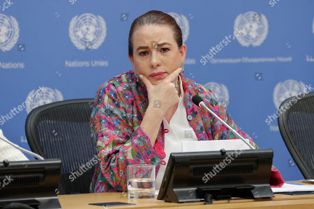 Maria Fernanda Espinosa Garces, President of the seventy-third session of the General Assembly, briefs press on the ongoing work of the GA today at the UN Headquarters in New York.