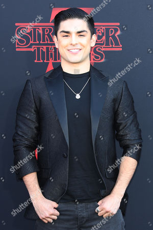 Diego Tinoco poses for the photographers on the red carpet prior to the premiere of 'Stranger Things: Season 3' in Santa Monica, California, USA, 28 June 2019. The TV show will be released on 04 July.
