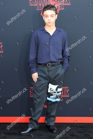 Jason Genao poses for the photographers on the red carpet prior to the premiere of 'Stranger Things: Season 3' in Santa Monica, California, USA, 28 June 2019. The TV show will be released on 04 July.