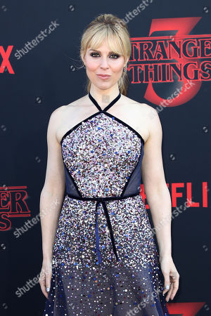 Stock Image of Cara Buono poses for the photographers on the red carpet prior to the premiere of 'Stranger Things: Season 3' in Santa Monica, California, USA, 28 June 2019. The TV show will be released on 04 July.