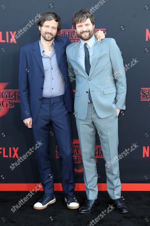Stock Photo of Matt Duffer (L) and Ross Duffer (R) pose for the photographers on the red carpet prior to the premiere of 'Stranger Things: Season 3' in Santa Monica, California, USA, 28 June 2019. The TV show will be released on 04 July.