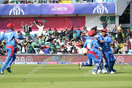 WICKET - Haris Sohail is LBW to Rashid Khan during the ICC Cricket World Cup 2019 match between Pakistan and Afghanistan at Headingley Stadium, Headingley