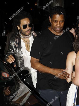 Stock Picture of Lenny Kravitz and Denzel Washington