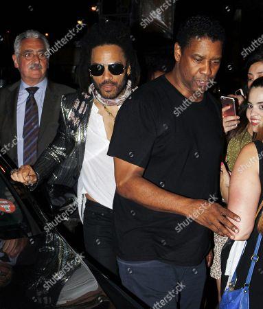 Lenny Kravitz and Denzel Washington