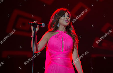 Najwa Karam performs on stage during the 18th International Mawazine Music Festival in Rabat, Morocco, 28 June 2019, issued 2019. The festival will run from 21 June to 29 June 2019.