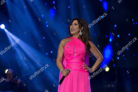 Najwa Karam performs on stage during the 18th International Mawazine Music Festival in Rabat, Morocco, 28 June 2019. The festival will run from 21 June to 29 June 2019.