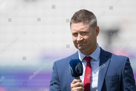 Michael Clarke presenting before the fixture between New Zealand vs Australia, ICC World Cup Cricket at Lord's Cricket Ground on 29th June 2019