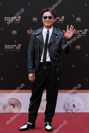 Eason Chan poses for a photograph on the red carpet during the 30th Golden Melody Awards in Taipei, Taiwan, 29 June 2019.