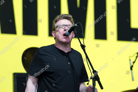 Charlie Reid of Scottish band The Proclaimers perform on the Pyramid Stage, on the fourth day of the Glastonbury Festival at Worthy Farm, Somerset, England