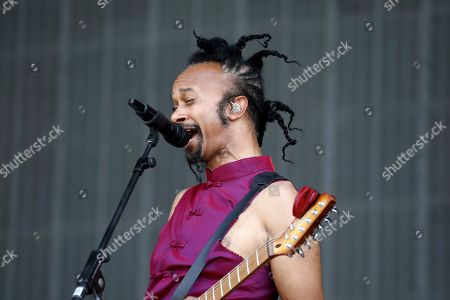 Fantastic Negrito performs on the fourth day of the Glastonbury Festival at Worthy Farm, Somerset, England
