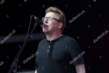 Charlie Reid of Scottish band The Proclaimers performs on the Pyramid Stage, on the fourth day of the Glastonbury Festival at Worthy Farm, Somerset, England