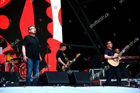 Craig Reid, Charlie Reid, The Proclaimers. Craig Reid, left and Charlie Reid of The Proclaimers perform on the third day of Glastonbury Festival at Worthy Farm, Somerset, England, . Temperatures are expected to soar over the weekend as a heatwave hits parts of Europe, while the festival runs for five days and is one of the largest events of its kind in the world