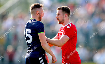 Kildare vs Tyrone. Kildare's Neil Flynn and Niall Sludden of Tyrone