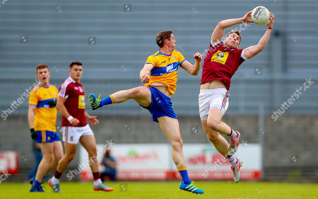 Westmeath vs Clare. Westmeath's Kieran Martin with Cathal O'Connor of Clare