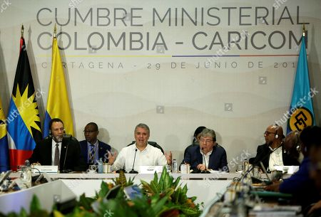 Editorial image of Duque calls for continental responsibility for the Venezuelan exodus at the Caricom summit, Cartagena, Colombia - 29 Jun 2019