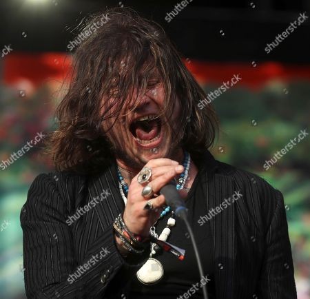 Vocalist Jay Buchanan of US band Rival Sons perfoms on stage during the Download Festival 2019, in Madri, Spain, 29 June 2019.