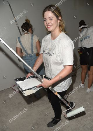 Sasha Pieterse joins Bluegreen Vacations and New Orleans area Habitat for Humanity to construct a home in the Lower 9th Ward in New Orleans, LA @bgvmarquee #onyourmarquee #bluegreenvacations @habitatnola