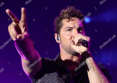 David Bisbal performs on stage during Sun and Stars Festival in Las Palmas de Gran Canaria, Spain, 29 June 2019.