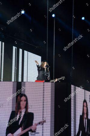 Laura Pausini at the Olympic Stadium